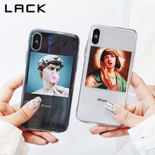 Buy LACK Funny Art illustration Phone Case iphone X Case iphone 6 6S 7 8 Plus Sister Cover David Cases Soft TPU Couples Capa for $2.03 in AliExpress store