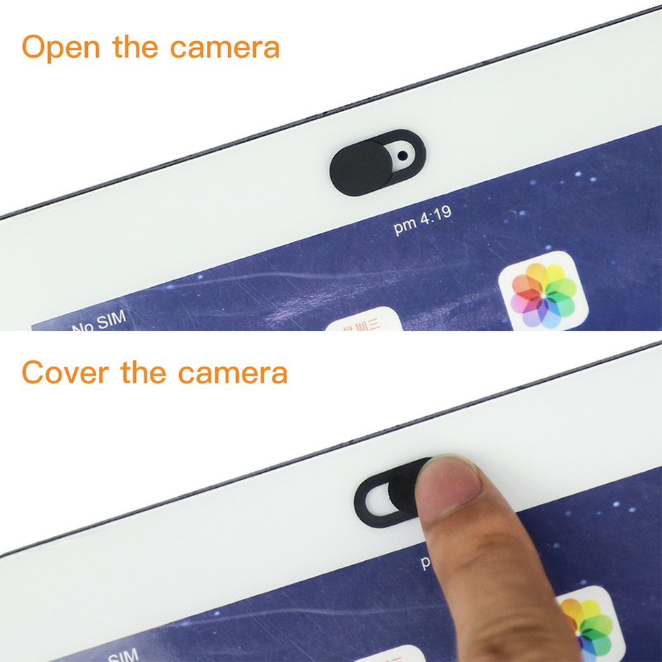 !ACCEZZ WebCam Cover Shutter Magnet Slider Plastic Camera Cover Macro Lens For Web Laptop iPad PC Macbook Tablet Privacy Sticker (5)