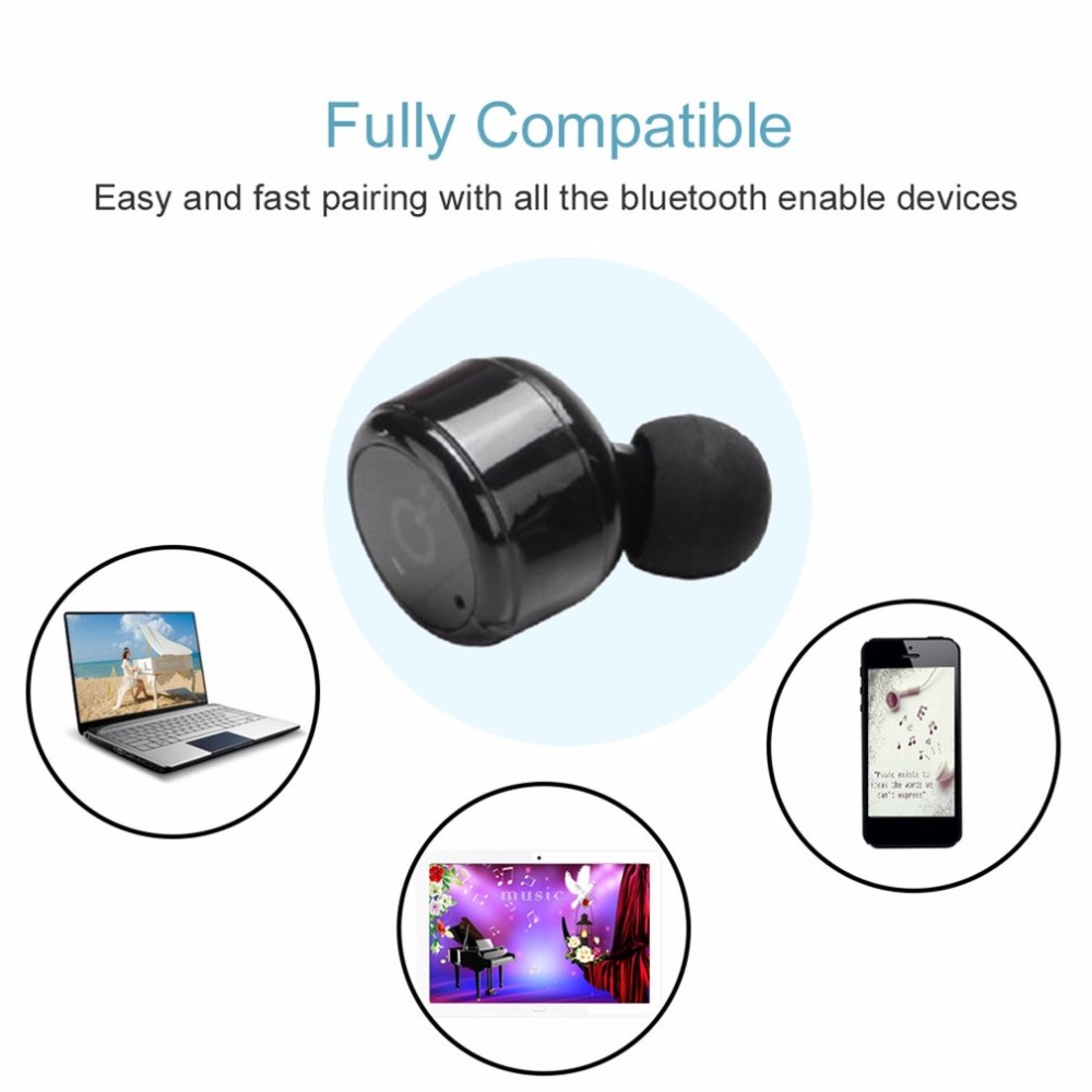MANBO Mini Invisible Twins True Wireless Bluetooth 4.2 Earbuds Earphones With Magnetic Charging Case Sport Headphone