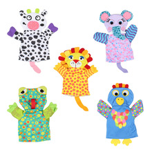 Cartoon Children Baby Toy Finger Puppets Hand Puppet Doll Animals Gloves Boy Story Toy Girl Learning Education Toys Pretend Doll(China)