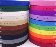 20 Colors Woven Button Hole Elastic Band 1.8cm/0.7'' Elastic Stretch Tape extend Finish Tape Sewing free shipping 10m(China)