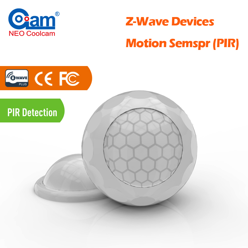 NEO COOLCAM NAS-PD02Z New PIR Motion Movement Sensor Z wave Motion Detector Z-wave plus Sensor Alarm Smart House Home Security<br>