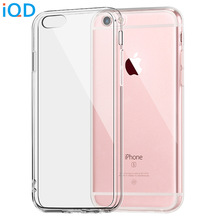 IQD For Apple iPhone 6 6s 7 Plus Case Clear TPU Cases Slim Crystal Silicone Protective sleeve Cover Transparent Fitted Soft hard