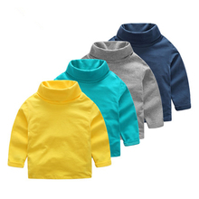 Buy Children basic clothing turtleneck boys t shirt long-sleeve cotton autumn winter girls clothes casual kids tops wear for $10.99 in AliExpress store