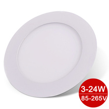 Round LED Panel Light 85-265V Ultra Bright LED Downlight 3/4/6/9/12/15/18/24W LED Ceiling Recessed Light For Kitchen Bathroom