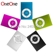 OneOne Mini Clip MP3 Player Cheap Colorful mp3 Players with Earphone, USB Cable, Retail Box, Support Micro SD/TF Cards 500pcs