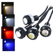 1pcs 18mm Waterproof Eagle Eye LED DRL Daytime Running Light Car styling DIY  Lights Brake Backup Reversing Parking Signal Lamp