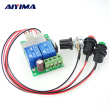 1pc PWM DC motor speed regulator DC6-24V 3A dc linear actuator motor Controller with Button and Positive Inversion(China)