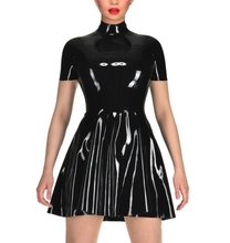 Buy Latex Sexy Bunny Dress Princess swing dress Latex short sleeves Costumes Girls Skirts Latex Outfit