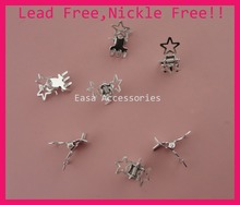 50PCS Silver finish mini filigree star style plain Metal Hair Claws at lead free and nickle free,devil's claw star hair clamps