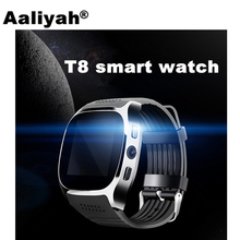 Aaliyah T8 Bluetooth Smartwatch With Camera Facebook Whatsapp Support SIM TF Card Wearable Devices Smart Watch Phone For Android(China)