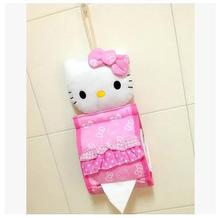 New Pink Lace Bow Hello Kitty Tissue Cover Tissue Pumping Sets Cartoon Tissue Box Tissue Paper Storage Box Home Decoration