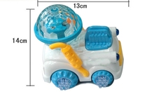The latest hot electric model toy ball movement dream lighting electric photoelectric farmer car