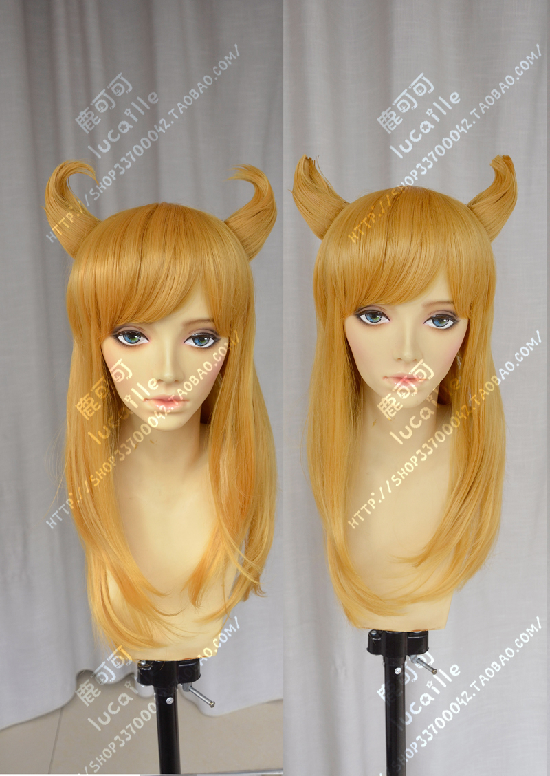 Free Track Anime League of Legends LOL Ahri Cosplay Wig Costume Heat Resistant + Cap<br><br>Aliexpress