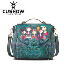 Autumn Winter 2016 Original Modern Printing New Laptop Handbag Fashion Women Shoulder Bags Designer Famous Brands High Quality(China)