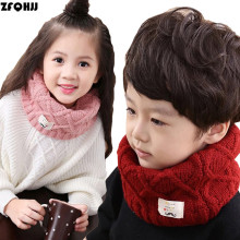 ZFQHJJ 2017 Winter Spring Autumn Cotton Baby Kids Scarf Children Girls Boys Knitted Wool Ring Collar Neck Warm Scarves Wraps(China)