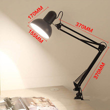 Flexible desk lamp Holder Clip with On off Switch for Children Reading EU US Plug use as Simple Desk Lamp(China)