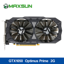 Buy MAXSUN GTX1050 Optimus Prime 2GB Graphics card 7000MHz GDDR5 1354-1455MHz 128bit 4096x2160 HDMI+DP+DVI Video Card gaming for $192.99 in AliExpress store