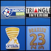 DRAXLER DI MARIA VERRATTI CAVANI Coupe de France Ligue 1 patch football Print patches badges,Soccer Hot stamping Patch Badges(China)