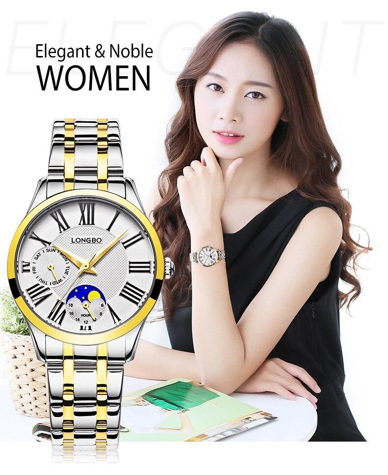 Fashion Casual Lovers Dress Quartz Watch Watches Women Men Ladies Couple Watch Wristwatches Full Steel Multifunction Dial Clock<br><br>Aliexpress