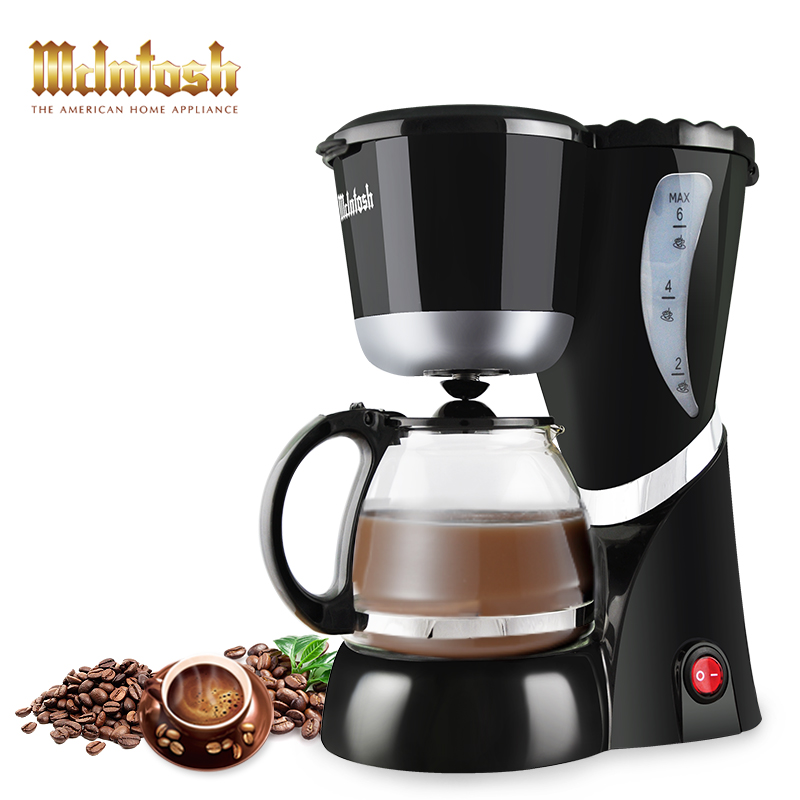 Automatic Drip Coffee Machine 6 Cups expresso High-quality multifunctional Electric Coffee Maker with Water Window and LED light<br><br>Aliexpress