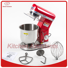 7L electric planetary food mixer machine blender spiral bread dough mixer egg beater with dough hook removable bowl