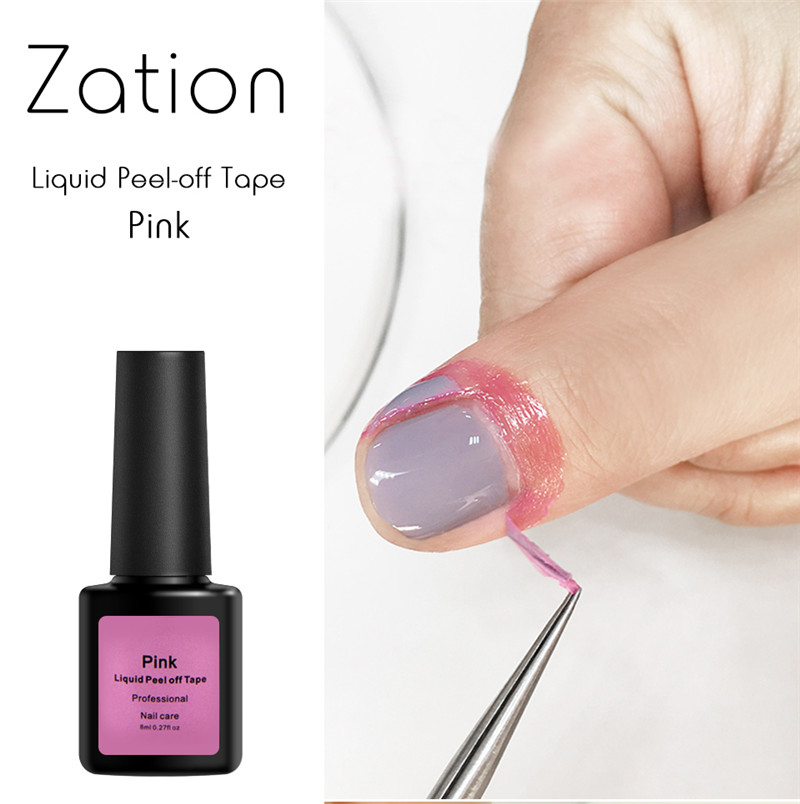 Zation Nail Gel Polish Peel Off Latex Liquid Tape Manicure Skin Care ...