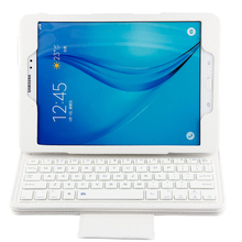 Bluetooth Keyboard With PU Leather Case Stand Cable Kit Suitable For Samsung Galaxy Tab A 9.7 T550 T555 T551 Series(China)