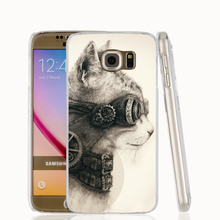 20437 Steampunk Cat custom cell phone case cover for Samsung Galaxy A3 A5 A7 A8 A9 2016