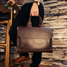 Brand Designer Genuine Leather Portfolio Handbag Men High Quality Briefcase Cowhide Business Shoulder Bag Laptop Messenger Bags(China)