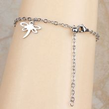 2016 New Stainless Steel Charm Dragonfly Design Chain Ankle Anklet For Women Bracelet Barefoot Sandal Foot Jewelry Gift (A1014)