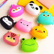 RU&BR Animals Girls Silicone Small Mini Coin Bag Mini Coin Purse Change Wallet Purse Women Key Wallet coin Wallet Children Kids(China)