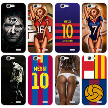 H521 Messi Football Style Transparent Hard Thin Skin Case Cover For Huawei P 6 7 8 9 10 Lite Plus Honor 6 7 8 4C 4X G7(China)