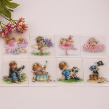 Scrapbook DIY photo cards account rubber stamp seal stamp boyand girl transparent finished chapter 9x10cm SD106