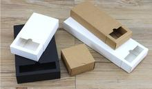 10PCS/Lot Free Shipping Gift box Retail Black/white/Kraft Paper Drawer Box Gift Craft Power Bank Packaging Cardboard pack Boxes(China)