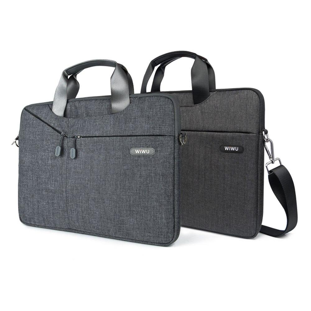 WiWU Laptop Messenger Bag 11 12 13.3 14.1 15.4 15.6 Waterproof Nylon Notebook Bag for Dell 14 Laptop Bag for Macbook Pro 13 Case