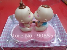 Free shipping via EMS 20pcs per lot solar gift car decoration kiss baby head shaking under sunshine(China)