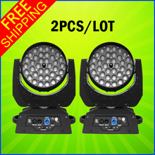 2PCS A Lot 36PCS 10W RGBW 4in1 Led Wash Moving Head Zoom Led Moving Head Wash 36x10W DMX Stage Lighting For DJ Wedding And Event