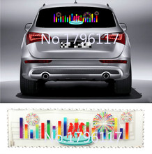 90x25cm Car Sticker Music Rhythm LED Flash Lamp Sound Activated Equalizer  Car decration Sticker Glow Flash Panel LED car Light