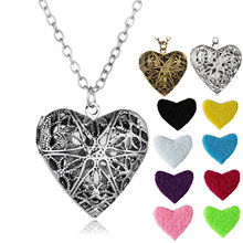 Buy Vintage Jewelry Essential Oil Necklace Silver Color Heart Shaped Locket Pendant Aromatherapy Necklace Women Party for $1.06 in AliExpress store