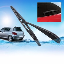 DWCX Rear Window Windscreen Windshield Rubber Wiper Arm + Wiper Blade For 2002 -2004 2005 2006 2007 2008 Peugeot 307 SW / ESTATE