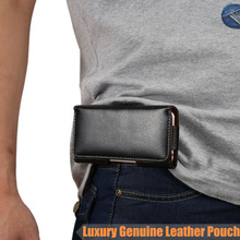 Fashion Mens Waist Pack Belt Clip Bag for iPhone 4 4s 5 5s 6 7 Genuine Leather Pouch Men Magnet Holster for iPhone 6 6s 7 plus