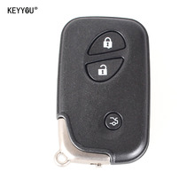 KEYYOU Replacement Shell 3 Buttons Smart Remote Key Fob Case For Lexus IS250 ES350 GS350 LS460 GS With Small Key Blade With Logo