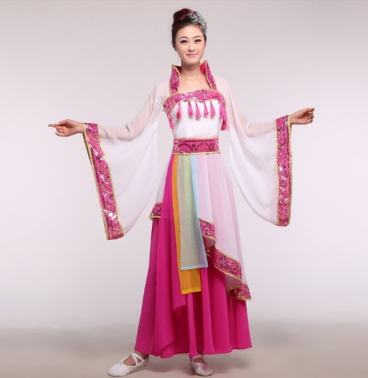 Tang Dynasty Drunk Princess Yang Chiffon Classical Dance Costume Fan and Umbrella Dance Costume(China (Mainland))