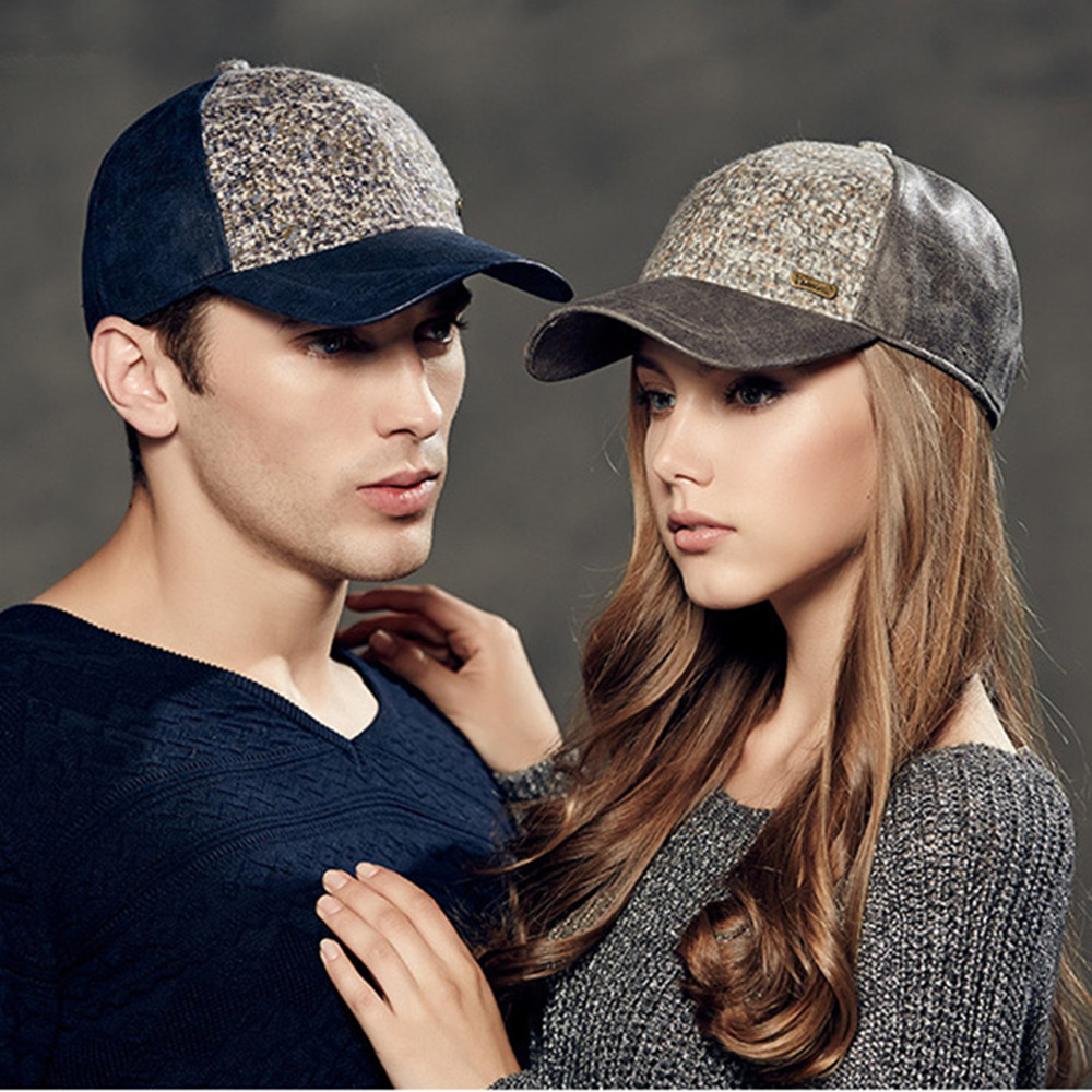 Kenmont Autumn Winter Women Men Outdoor 100% Wool Baseball Cap Patchwork Warm Casual Travel Sun hat Lovers Couple 2297<br>