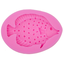HOT Selling Marine life Fish fondant 3D silicone decoration mold DIY Cake Decorating Tools Baking mould T0521