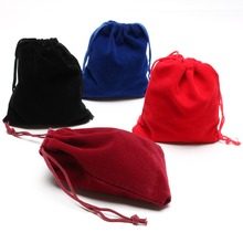 20pcs/lot Mini Velvet Drawstring Gift Bag Jewel Accessories Storage Bags Gift Packing Pouch 10*12cm(China)