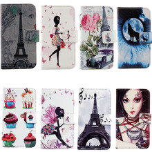 Hot Book Style Cartoon Stand Flip Cover For LG t370 T375 T385 t395 Skin Pouch 1X Drawing Design PU Leather Case Phone Case