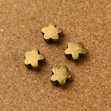 Wholesale vintage 200pcs antique bronze star  small hole  bead charm diy  jewelry Findings 1mm hola dia