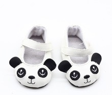 "[AM160]2017 New 18 Inch American Girl Doll Shoes- Panda Leather Shoes for 18"" American Girl Doll shoes for retail"